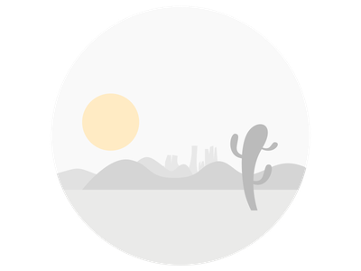 Desert flat circle rounded desert illustration