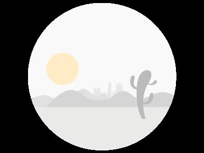 Desert flat circle rounded desert illustration