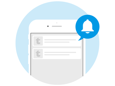 Push Notifications Illustration for tutti.ch screen interface mobile flat circle rounded illustration push notifications