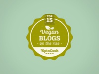 Top 15 Vegan Blogs Badge
