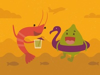 Shrimp & Lime illustration