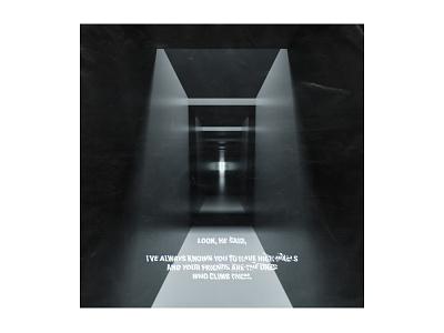 """""""Hallway"""" Abstract Render typography design cinema 4d c4d"""