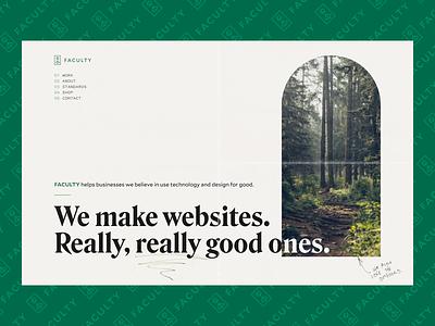 Faculty.com Art Direction Explorations web design logo branding design agency website agency website ui typography web