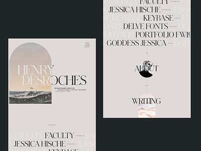 Creative Technologist Portfolio Redesign FW20 portfolio personal site website ui typography