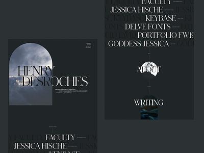 [Dark Mode] Creative Technologist Portfolio Redesign FW20 web portfolio personal site website ui typography