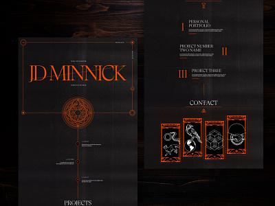 Tarot-Inspired Personal Site Concept dark mode ui web design tarot card occult tarot website