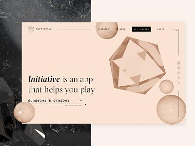 #DailyUI - 003: Landing Page web 3d dailyui typography cinema 4d c4d website ui