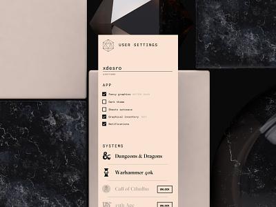 #DailyUI - 007: Settings Page settings app typography cinema 4d c4d mobile dailyui ui