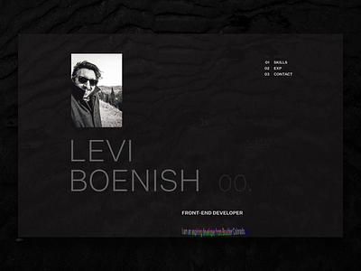 Front-end Developer Portfolio Site personal site web typography website figma after effects portfolio design ui
