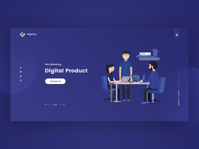 Creative Digital Agency Header working team clean web design logo branding colorful typography ui ux creative header creative header digital agency website minimal landing digital design agency