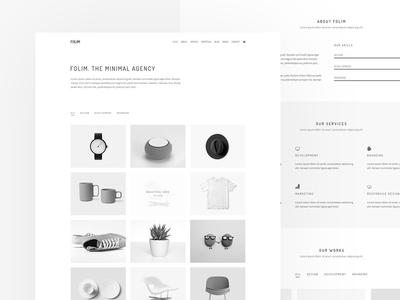 Creative Minimal Portfolio Theme logo branding team simple website web design typography creative clean design ecommerce ux ui minimal personal personal portfolio agency freelancer portfolio minimal portfolio