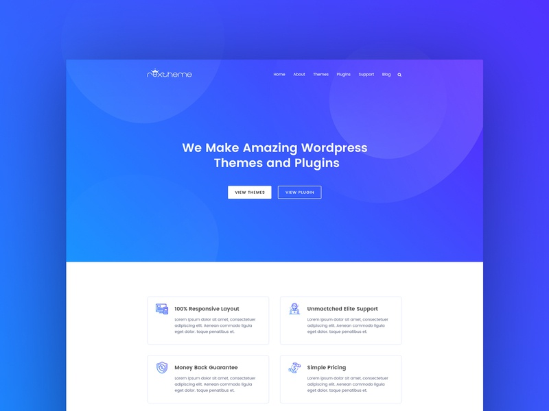 Agency Theme And Plugin Website digital agency creative agency web  design landing page minimal interface web design ui ux plugin theme typography gradient clean service colorful header website design creative agency