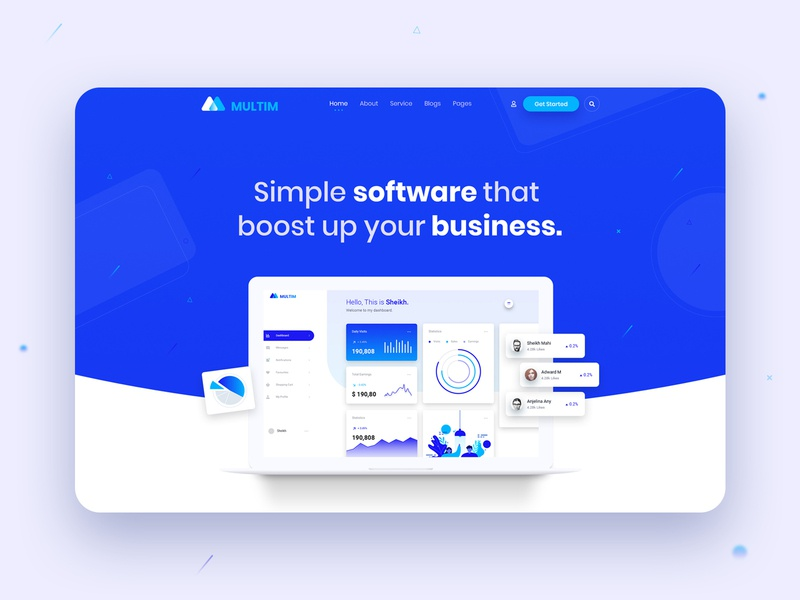 Creative Agency SaaS Landing Page Header home page illustration typography agency software app application saas clean creative web design website design dashboard ui ux header landing page software landing page plugin landing page saas landing page