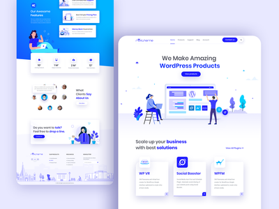 RexTheme: Creative Product Landing Page clean dashboard ecommerce website webdesign ui ux typogaphy team startup service minimal illustration homepage creative agency creative wordpress business agency