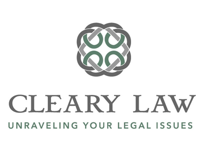 Cleary Law Logo attorney logo branding for lawyer celtic knot