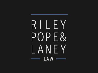 Riley, Pope, & Laney Law Firm logo logo firm law