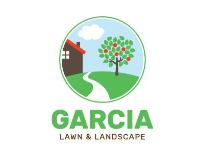 Garcia Lawn & Landscape Logo logo company landscaping