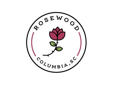 Rosewood Neighborhood Logo neighborhood logo rose logo
