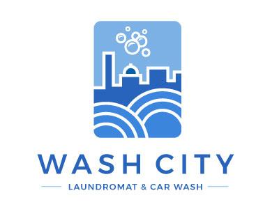 Laundromat and Car Wash Logo