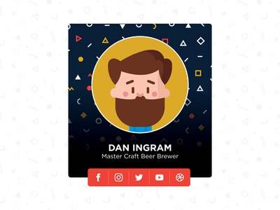 Day 88 – Avatar user interface craft beer cartoon beer uidesign popular brewer hipster profile avatar dailyui 088