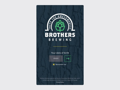 Day 93 – Splash Screen user interface enter page splash screen uidesign hipster microbrewery craft hops brewery beer dailyui 093