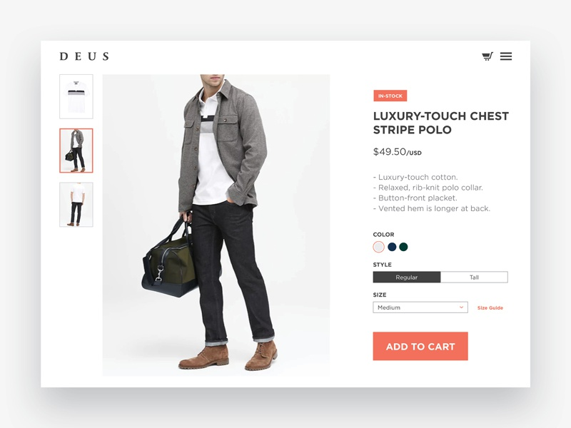 Day 96 - Currently In-Stock user interface currently in-stock web uidesign buy cart in-stock shop store ecommerce dailyui 096