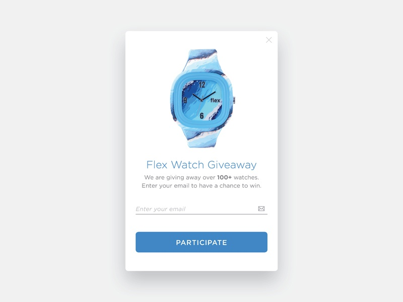 Day 97 - Giveaway user interface mobile uidesign clean flex watch card free gift giveaway dailyui 097