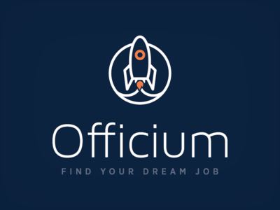 Job Recruitment Logo office launch dream modern icon clean logos recruitment rocket design logo job