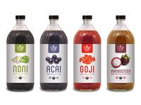 Juice Labels Preview Mockup
