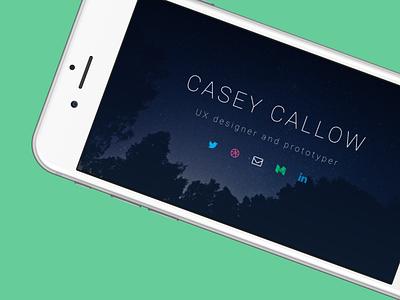 Personal Website Rebranding responsive simple iphone minimalist ui ux website