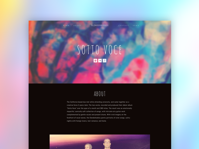 Slenderbodies Website music musician responsive ui website