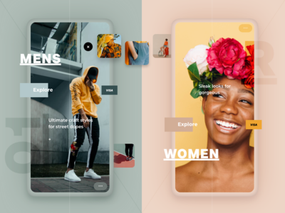 Pastel Style concept white clean light shop store eshop purchase card pink pastel material app ios iphone flat gradient shadow minimal fashion experience ecommerce e-commerce design photo photography animation principle prototype