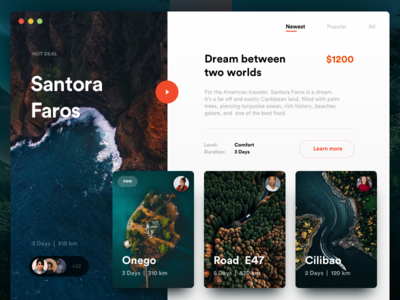 Perfect Journey Shop onepage grid minimal clean social shop store ux ui cards travel ecommerce