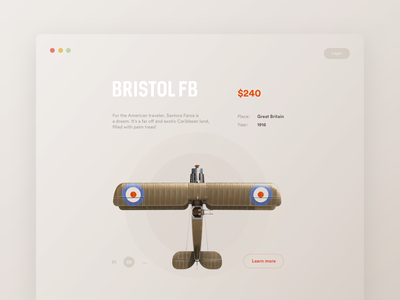 Perfect Toys e-commerce app style layout minimal grid creative ui clean card aircraft vintage retro typography pastel beige shop store plane concept
