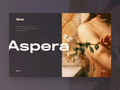 Straé. – Online Museum art font flow gallery museum design interaction typography website animation ux app layout grid creative concept style minimal ui clean