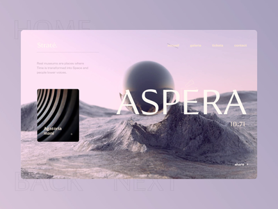 Video cover experiments typography space moon futuristic 3d motion interaction pastel website animation ux app grid layout creative concept style minimal ui clean