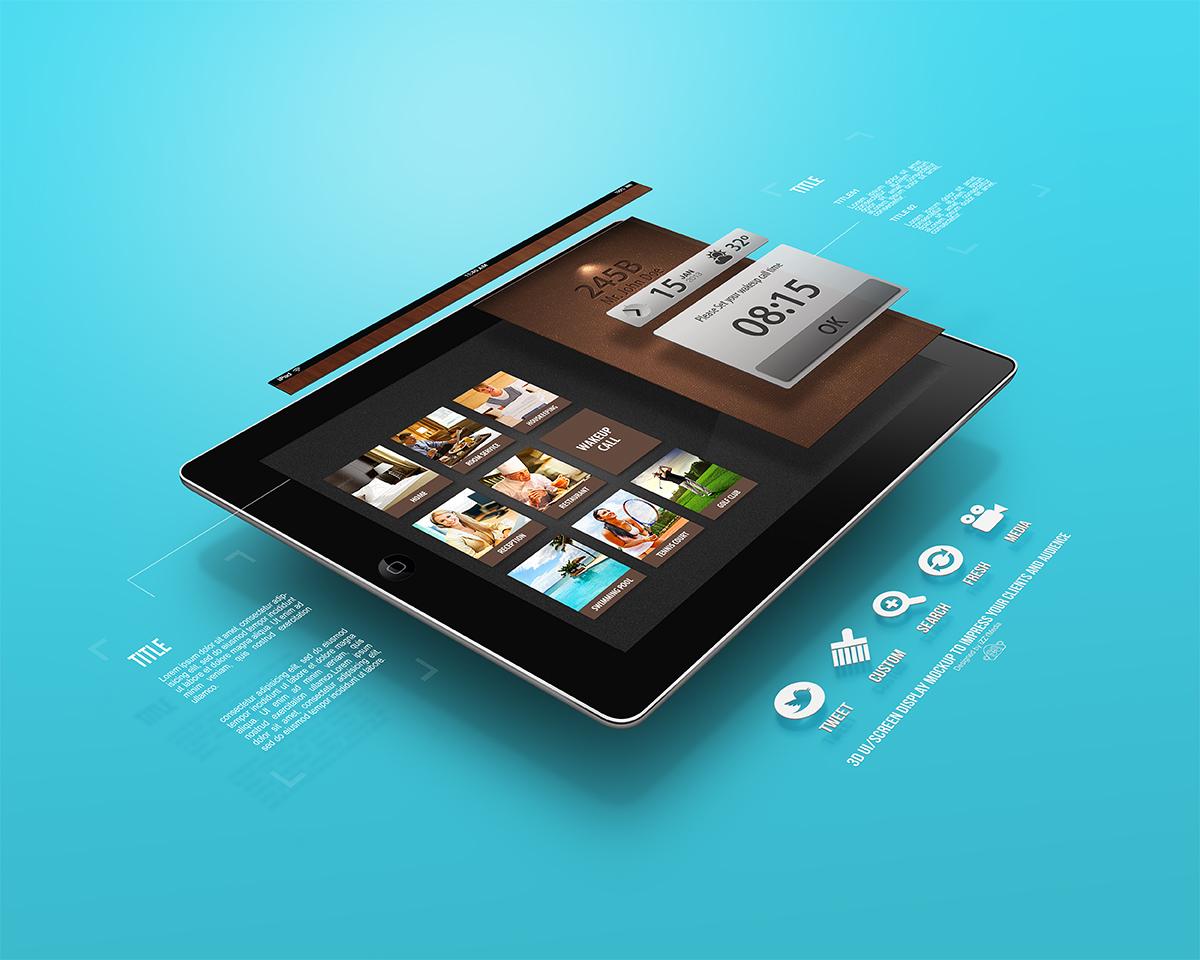Dribbble 3d Ui Screen Tablet Mockup Jpg By Izzymedia