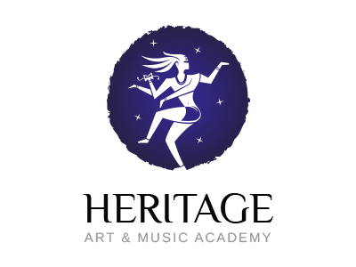 Logo for an art and music academy.