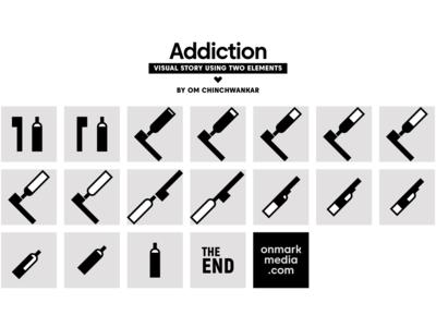 Addiction Visual Story by Om Chinchwankar