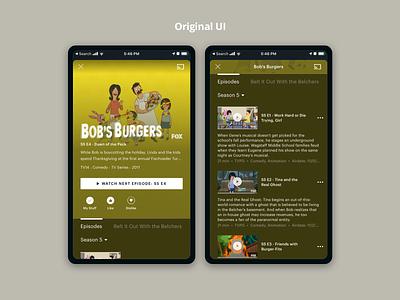 Hulu Episodes Microinteraction principle sketch tv video hulu microinteraction interface app design