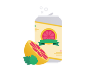 Grapefruit-Hopped Cider art adobe illustrator texture vector fruit illustration