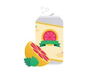 Grapefruit-Hopped Cider art adobe illustrator texture vector fruit illustration