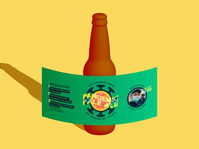 Pandemic Pale Ale label illustrator vector beer label beer art design