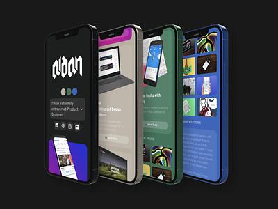 Revamped Portfolio branding web design design portfolio ui