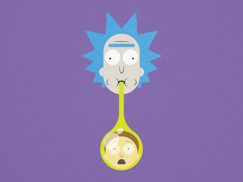 Geez Rick illustration illustrator ai vector funny purple texture flat rick and morty