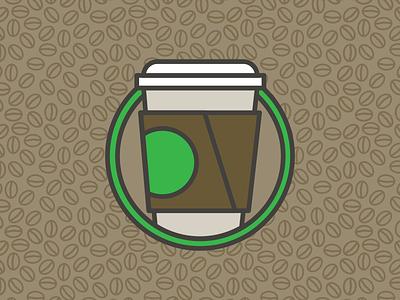Coffee Icon starbucks brown logo circle vector illustration pattern icon coffee