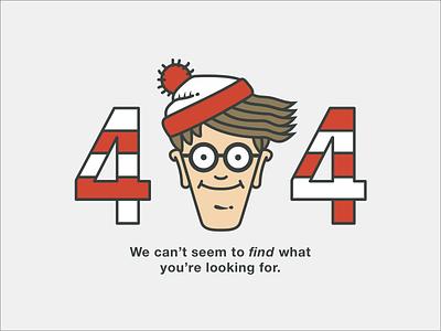 Error Page error danny horowitz illustration stripes 008 screen design vector dailyui wheres waldo 404 waldo
