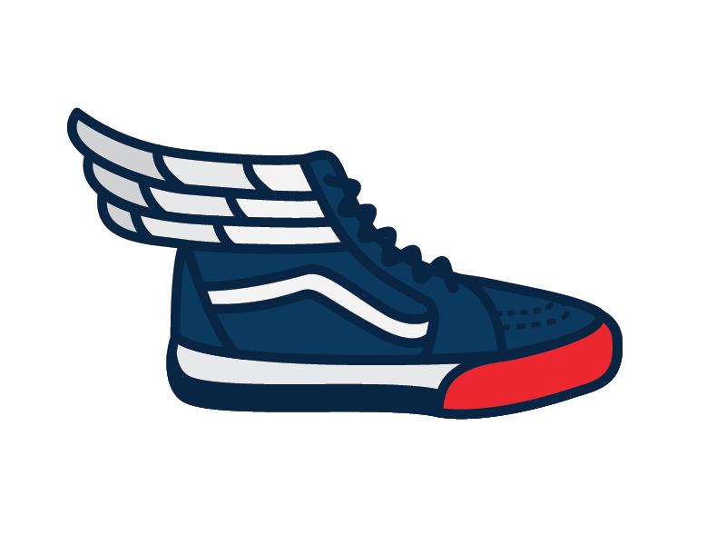American Athlete Shoe wings vector patriotic eagle sneaker shoe design merica athlete olympics sticker mule america