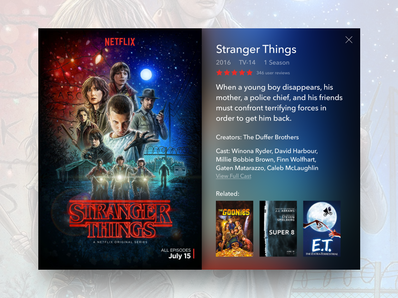 Stranger Things TV App Concept by Aidan Toole | Dribbble | Dribbble