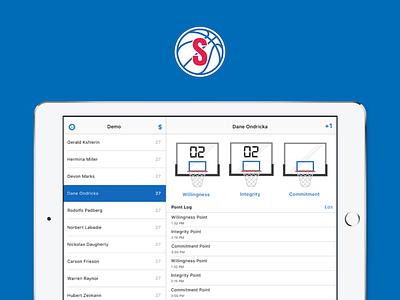 Scoreboard score 76ers project ipad app ui design logo